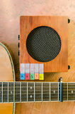 与音响guita的音乐字母表 免版税库存照片