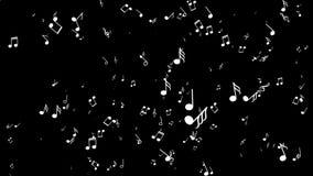与音符的Aanimated背景 黑色背景 向量例证