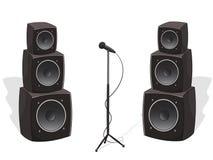 与音频报告人和话筒的阶段 向量例证