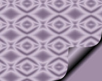 与页卷毛的抽象纸在与金刚石特征模式的软的丁香 库存照片