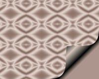 与页卷毛的抽象纸在有金刚石特征模式的软的罗斯 免版税库存照片