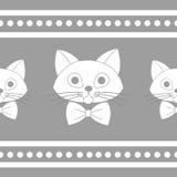 与领带的可爱的猫面孔 库存图片