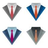 与领带的衣服 库存例证