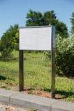 与题字的大理石白色平板 库存照片