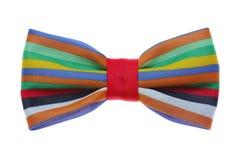 与颜色彩虹小条的蝶形领结 库存图片