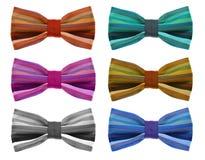 与颜色彩虹小条的蝶形领结 库存照片