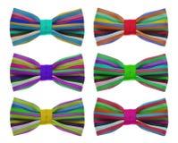与颜色彩虹小条的蝶形领结 免版税图库摄影