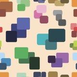 与颜色正方形的无缝的纹理 免版税库存照片