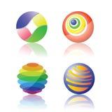 被隔绝的颜色球形 向量例证