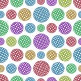 与颜色球形的无缝的背景 免版税库存照片