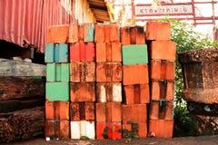与颜色的建筑材料 免版税库存照片
