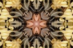 与颜色美丽的装饰物的万花筒  免版税库存照片