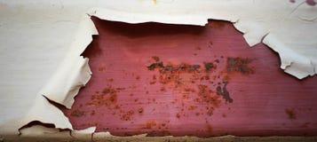 与颜色裂缝的铁 库存照片