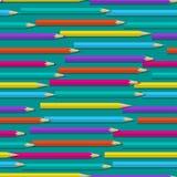 与颜色铅笔的无缝的样式 免版税库存图片