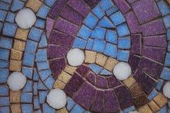 与颜色马赛克的元素的纹理 库存照片