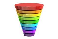 与颜色水平的企业略写法,图 3d翻译 向量例证