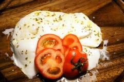 与额外处女橄榄油的开胃无盐干酪 图库摄影