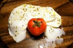 与额外处女橄榄油的开胃无盐干酪 库存图片