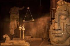与风景的剧院阶段戏剧的 免版税库存图片