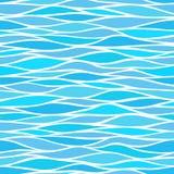 与风格化波浪的无缝的样式 库存例证