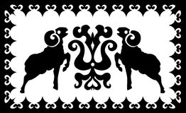 与风格化白羊星座的种族装饰品 图库摄影
