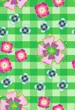 与风格化flowers_2的无缝的背景 库存图片