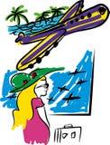 与飞机的旅行 库存图片