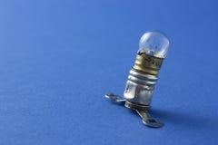 与飞翅的电灯泡 免版税库存照片