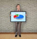 与饼图表的等离子 免版税库存图片