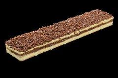与香草奶油和巧克力片的点心 库存图片