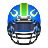 与马掌的橄榄球盔 免版税库存图片