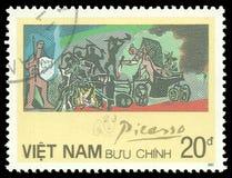 与马推车的绘画巴勃罗・毕卡索 免版税库存照片