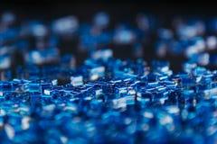 与马赛克样式的抽象蓝色背景 库存照片
