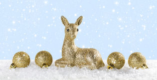 与驯鹿的圣诞节背景 库存图片