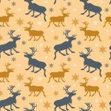 与驯鹿的样式 免版税库存图片