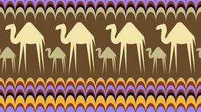 与骆驼的无缝的背景 库存图片