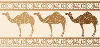 与骆驼的背景 种族模式 向量例证