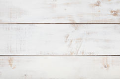 与高分辨率的白色木纹理背景 顶视图拷贝空间 图库摄影