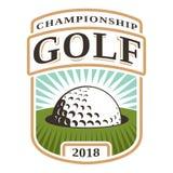 与高尔夫球的象征在孔 库存例证