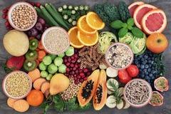 与高纤维内容的健康食品 库存照片