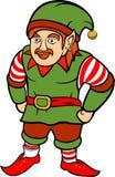 与髭的绿色圣诞节矮子 库存照片