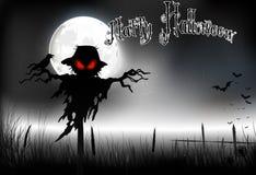 与鬼魂的万圣夜背景在满月 库存图片
