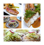 与鱼的美食术 库存照片