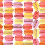 与鲜美油炸圈饼的无缝的模式 免版税库存照片