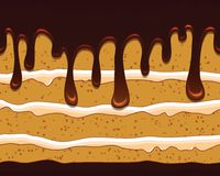 与鲜美蛋糕的传染媒介无缝的样式 向量例证