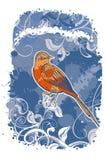 与鸟的传染媒介抽象背景 免版税库存图片