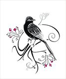 与鸟的传染媒介抽象背景 免版税库存照片