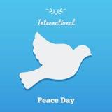 与鸠,国际天的平的横幅和平设计例证 库存照片