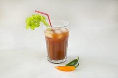 与鸡尾酒的一块玻璃 免版税库存照片