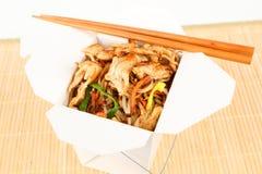 与鸡的亚洲米 免版税库存图片